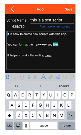 Add formatting to your script to make it easier to read