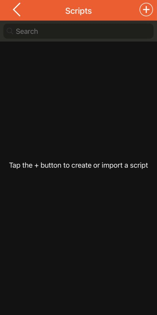 The scripts you use for your video will be listed here
