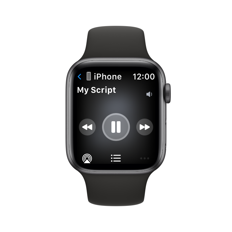 Using the Apple Watch as a remote control for the teleprompter app