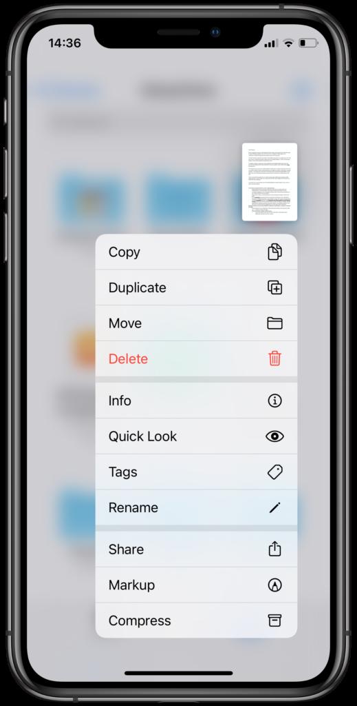 Share speech from files app