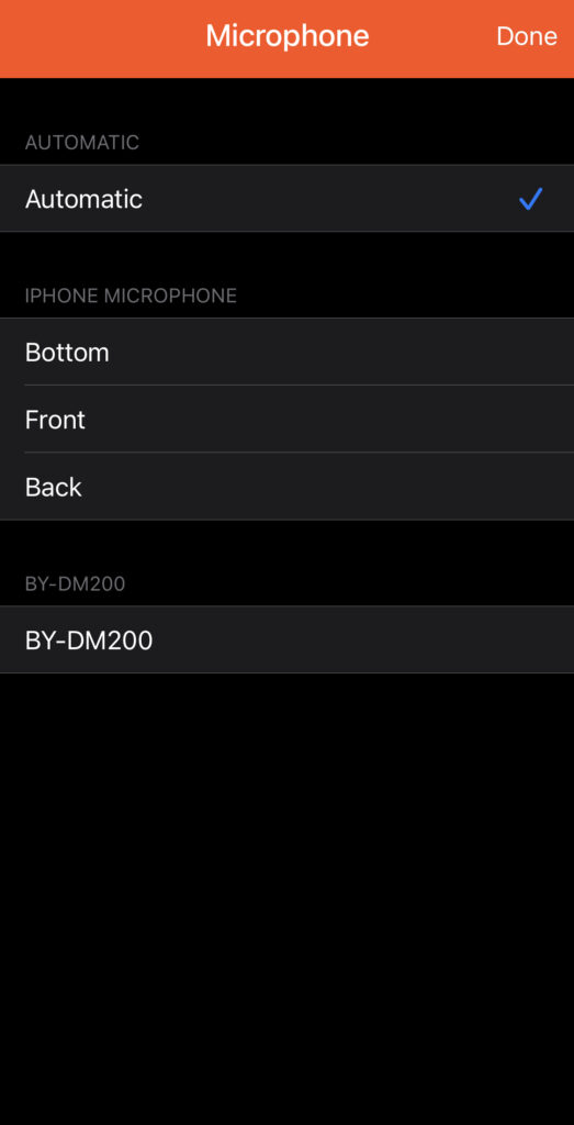 Select which microphone to use for iPhone