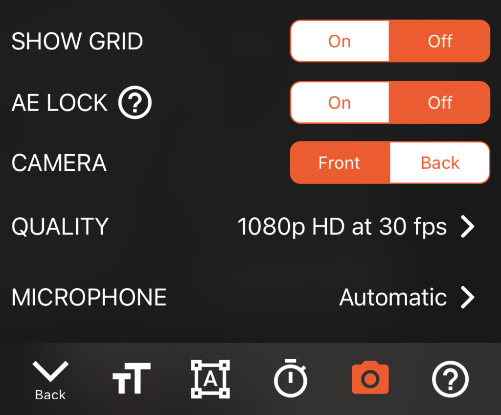Select the camera option and then microphone