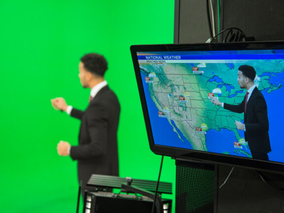 The weather forecast uses a Green Screen and So Can You