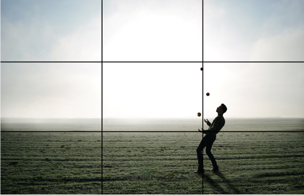 Use the rule of thirds gridlines to help you position the main focus of your video shot