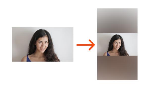 video horizontal convertido a retrato